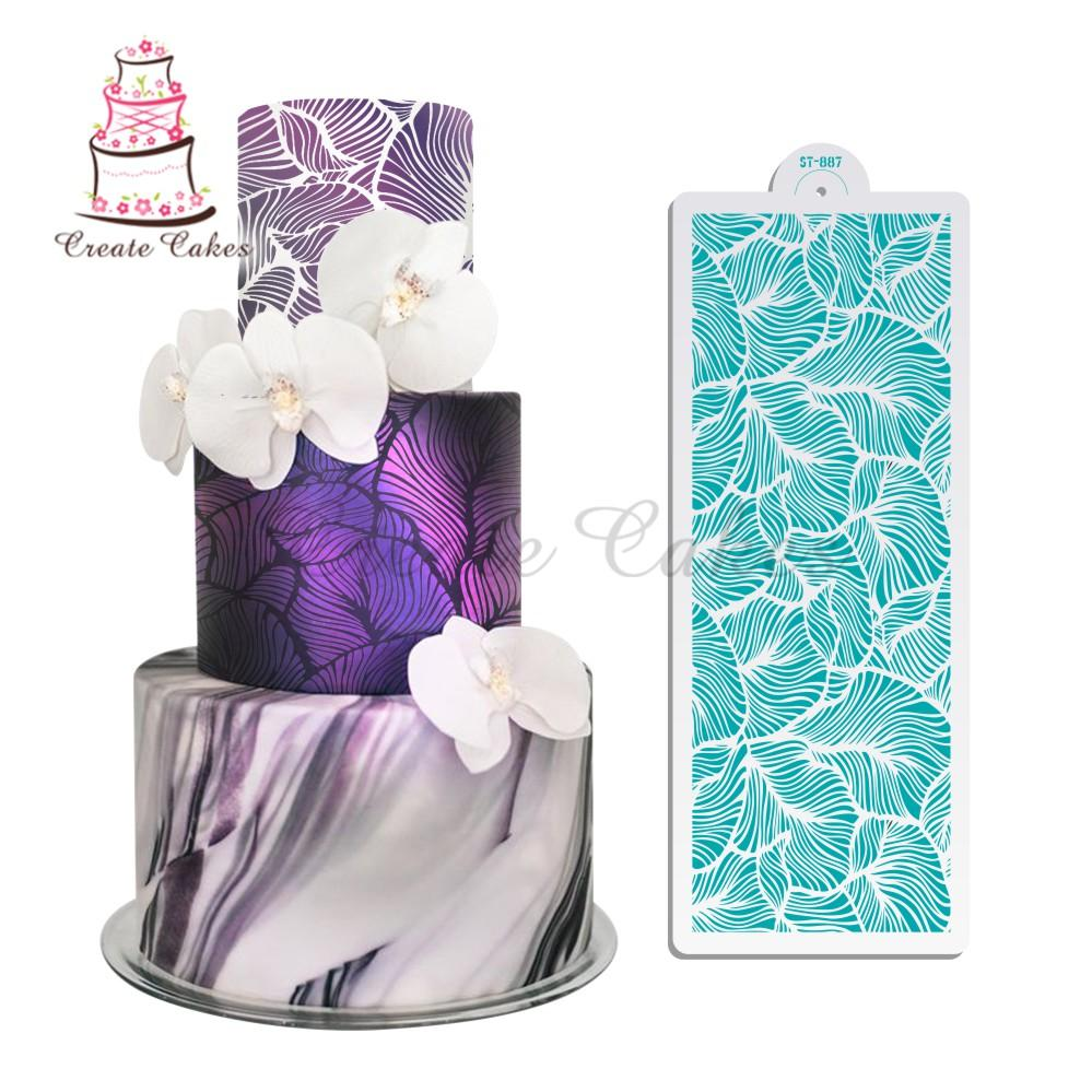 2018 peacock lace stencil for wedding cake design plastic template