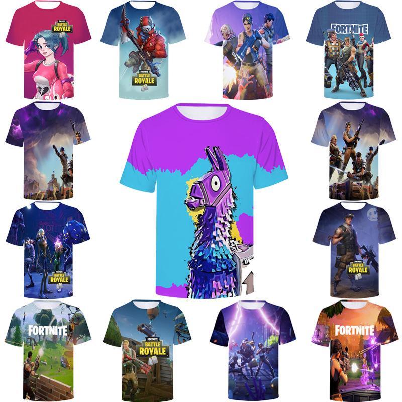 Compre 40 Estilo Fortnite Camisetas Dos Homens Novos De Impressão Legal 3d  Crânio Camisas De Verão De Manga Curta Respirável Tshirt Fortnite Grandes  Miúdos ... 42b46dc004eba