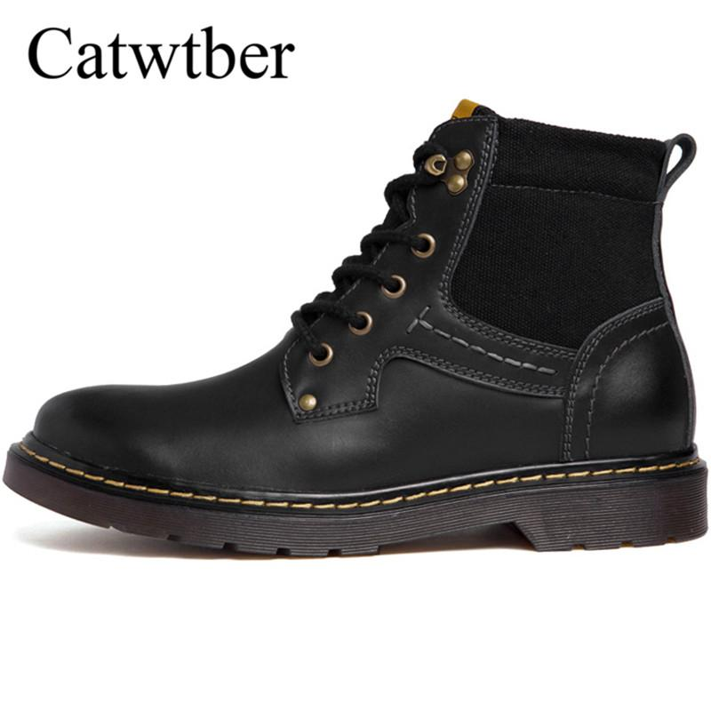d680f4d592 Catwtber Handmade Men Leather Winter Martin Boots High Quality Snow Men  Boots Ankle For Business Dress Shoes Black Boots Boots Pharmacy From Misix,  ...