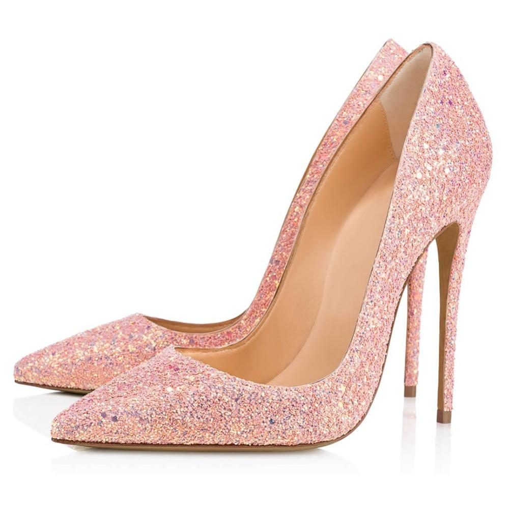 Ladies Bling Bling Pink Sequins Wedding Pumps Ladies Low Cut Pointed Toe  Stilettos Glitter Bridal High Heel Party Shoes Shoes Uk Mens Chelsea Boots  From ... e87315701b58
