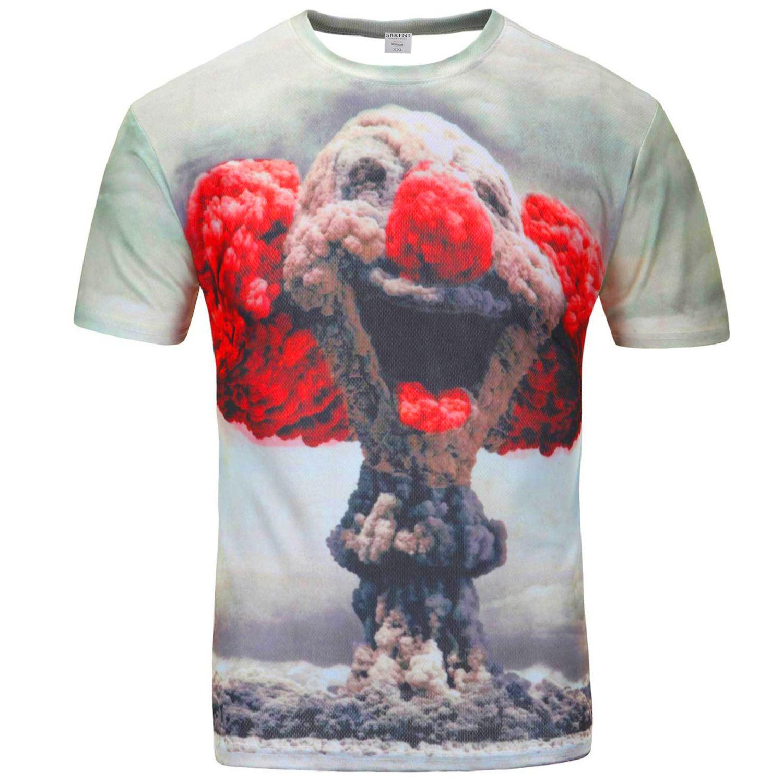 6cae4544 Wholesale-Men's T-Shirts hip hop round neck 3D digital print T-shirt Men's T -Shirts for new street casual short sleeve