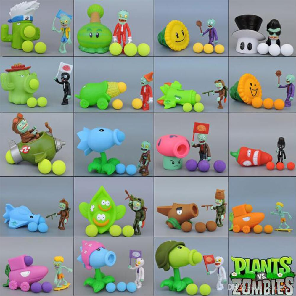 PVC 26 different packages Can launch kinds of popular style game PVZ plant vs zombie soft action model plants and zombies boys toys gift