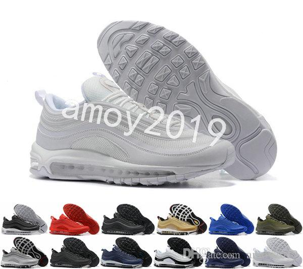 97 Mens Running Shoes 2018 Men OG Silver Gold Anniversary Edition Sneakers  97s Shoe Athletic Sports Trainers Size 40-46 97 97 Shoes 97s Online with ... c22e75536