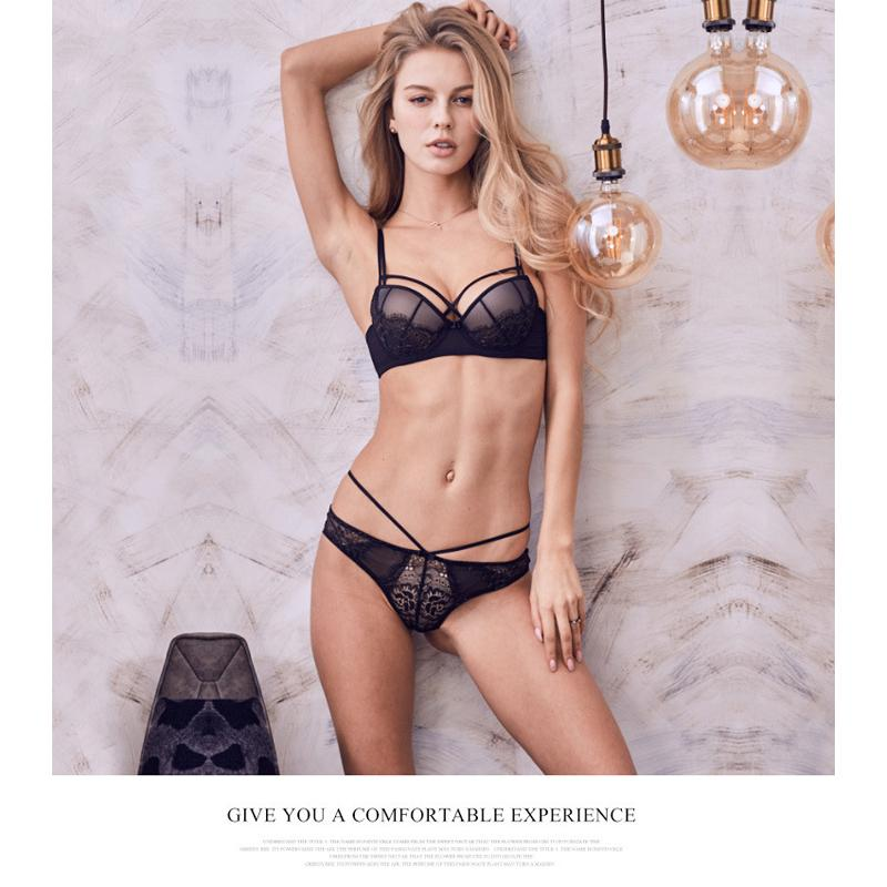 53d062ec3448b 2019 Lace Women Transparent Bra Lingerie Set Seamless Sexy Wear Wire Free  Embroidery Ultra Thin Soft Lace Women Bra And Panty Sets From Chenhanyang