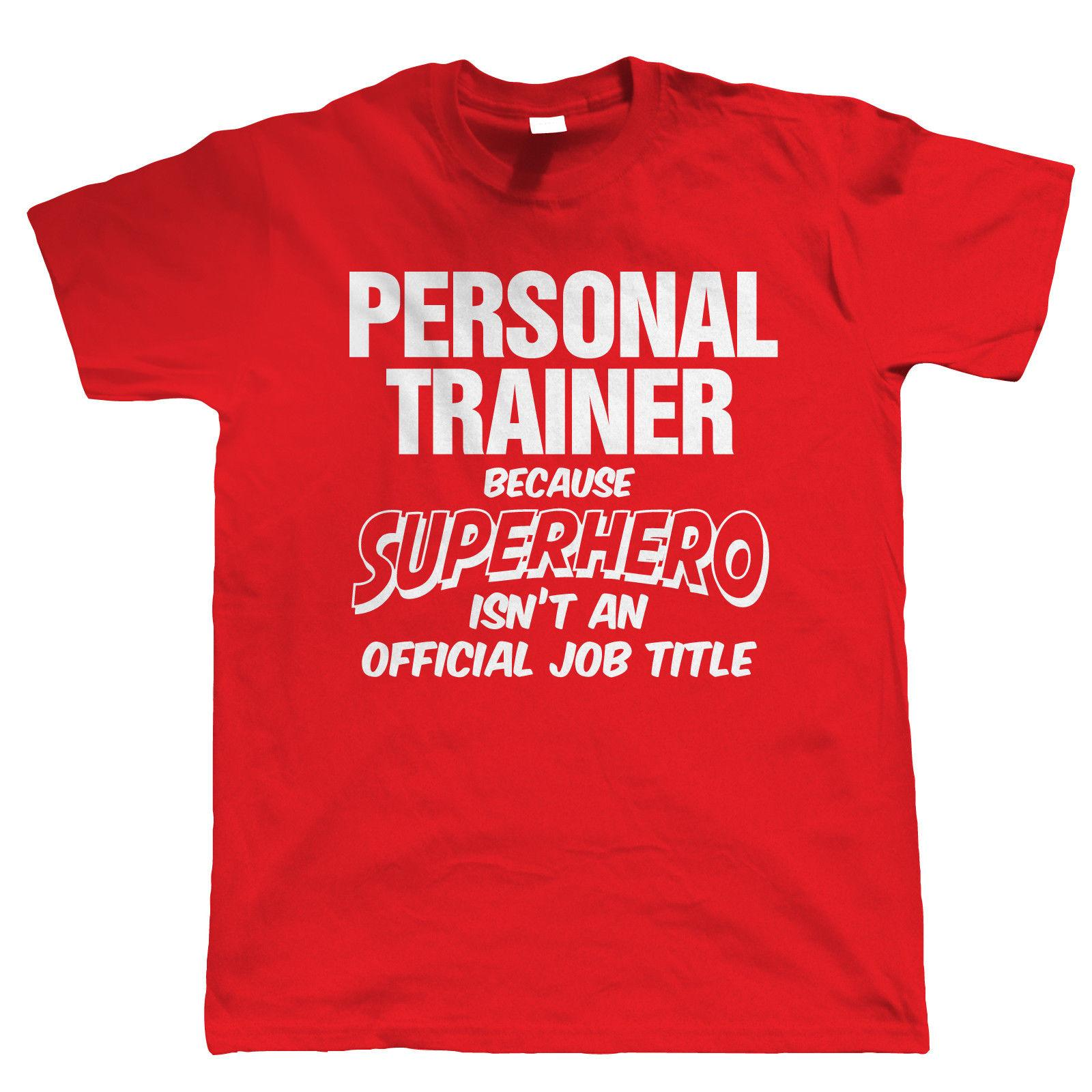 personal trainer superhero mens funny t shirt gift for dad him