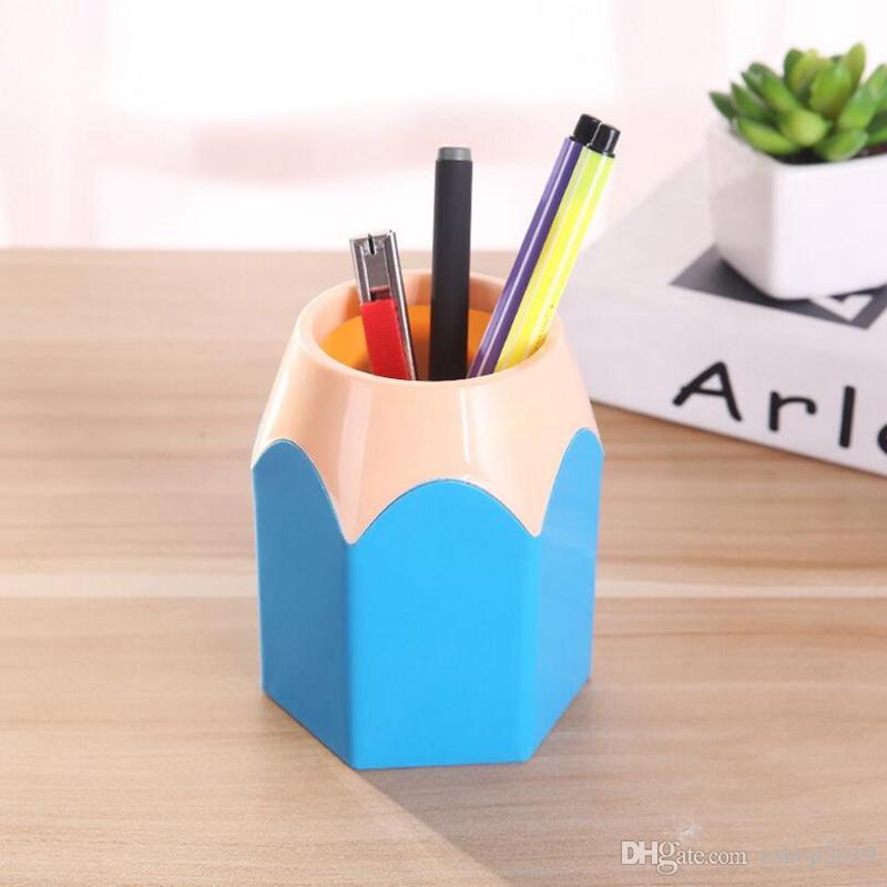 Cute Pop Creative Pen Holder Vase Color Pencil Box Makeup Brush