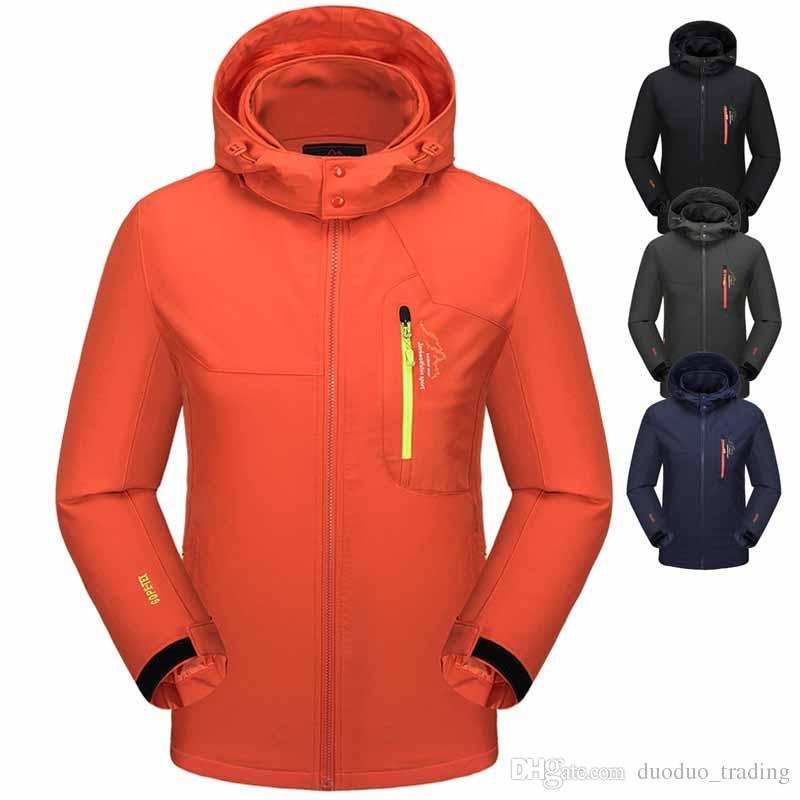 Men's Clothing New Mens Windproof Jacket Coat Autumn Winter Male Sweatshirts Outdoor Climbing Clothing Fashion Sports Ski Breathable Clothes