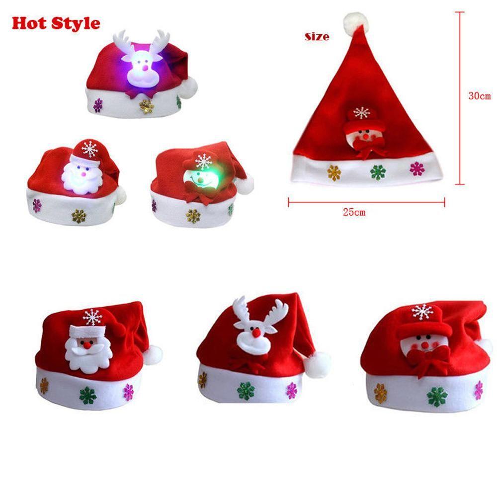 Descrizione Di Babbo Natale Per Bambini.Acquista Cappello Di Natale Led Babbo Natale Pupazzo Di Neve Renna