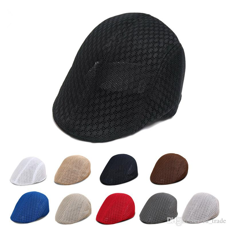 Fisherman Caps Visor Hat Mesh Running Sport Casual Breathable Beret Flat Cap  Vintage Hats For Kids Children Sun Peaked Hat C112 UK 2019 From Fd trade abd003a6163
