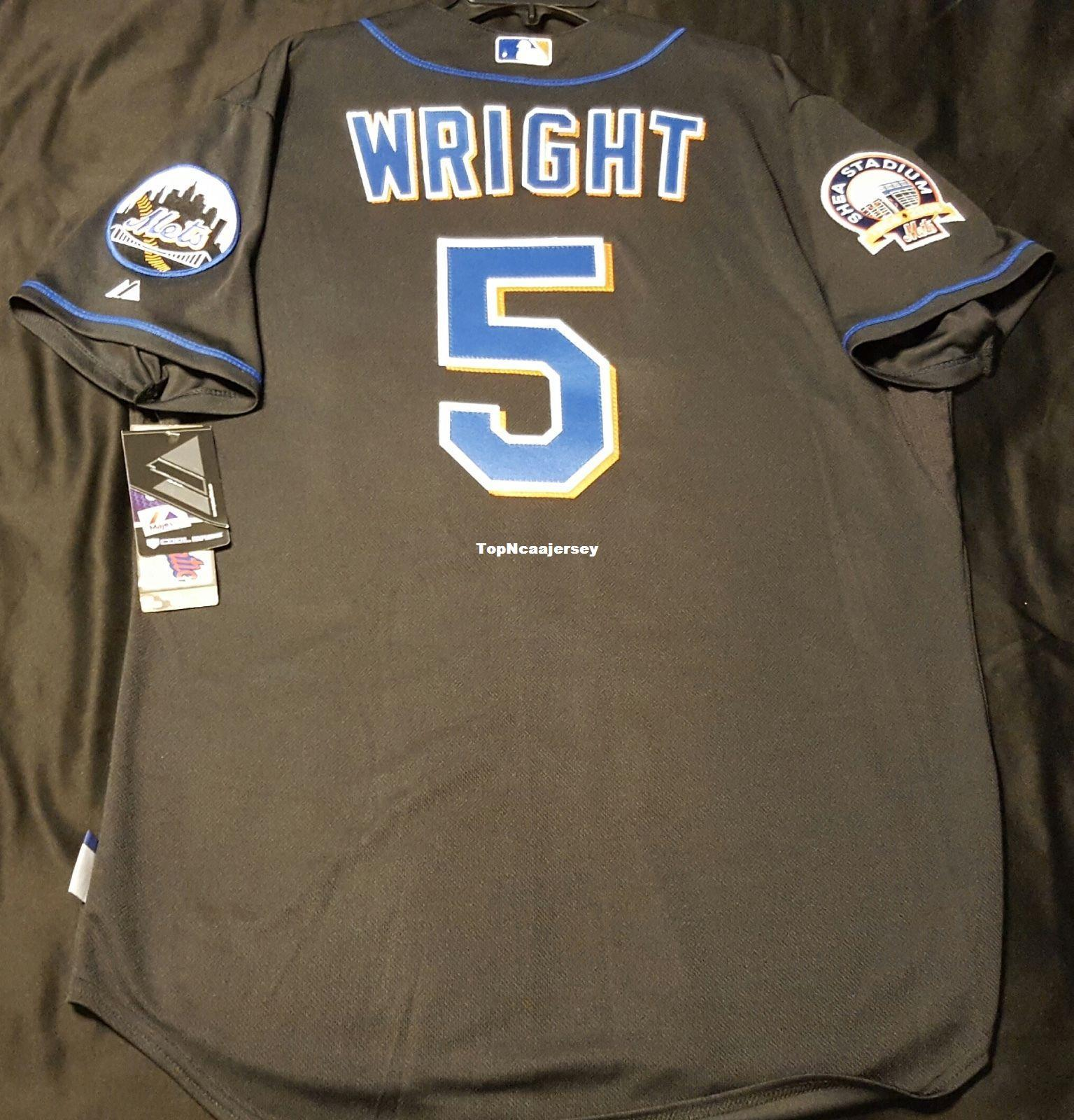 e08920369 Cheap NEW YORK #5 BLACK DAVID WRIGHT COOL BASE Jersey Mens Stitched  Wholesale Big And Tall SIZE XS-6XL Jerseys WRIGHT Baseball Jersey Cheap  DAVID WRIGHT ...
