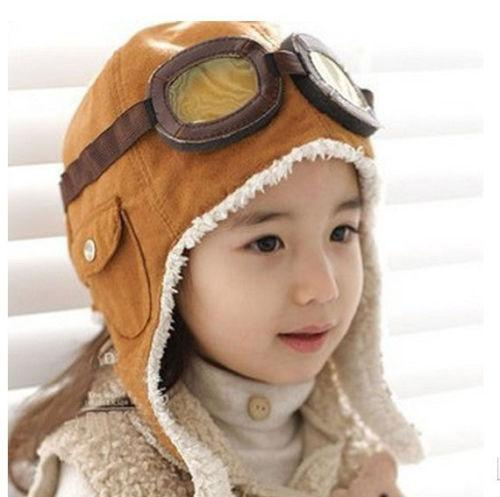 cb3bbe1f2 Winter Baby Toddler Boy Girl Kids Pilot Aviator Warm Cap Hat Beanie Brown  Black