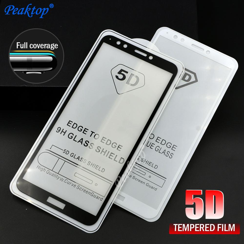 5D Tempered Glass for Huawei Y7 Prime 2018 Screen Protector Honor 7C Pro  Full Cover Film Huawei Y7 Prime 2018 Glass 5 99