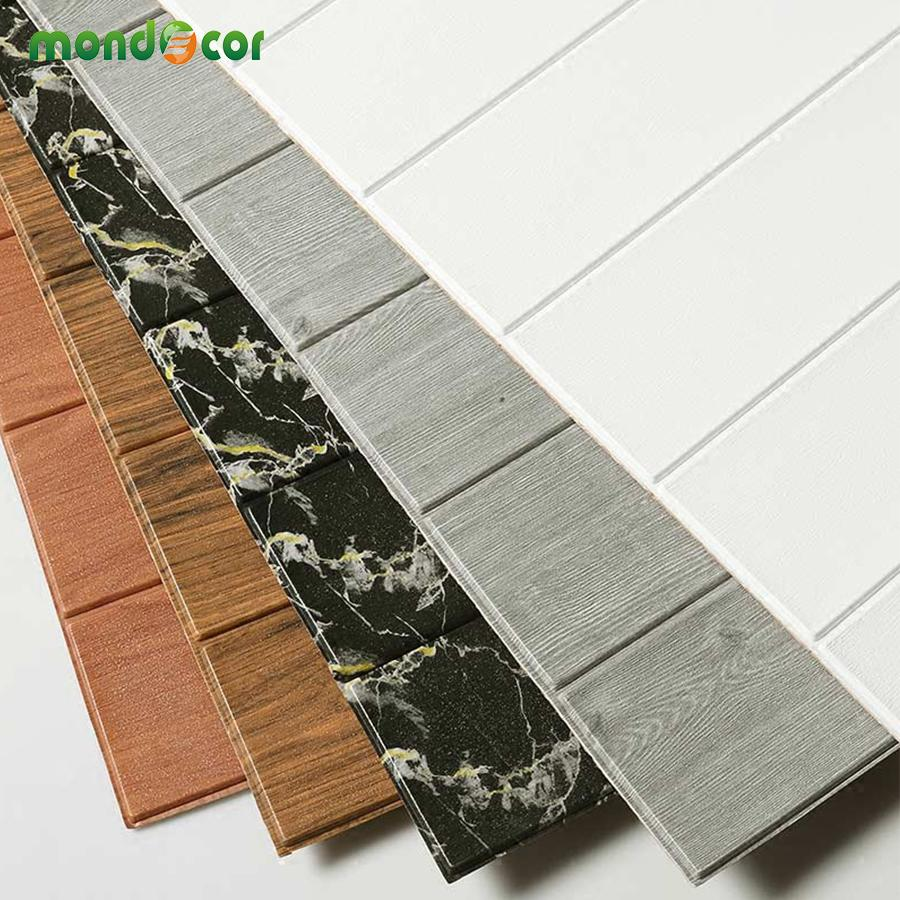 New 3D Wood Grain Wallpaper For Bedroom Modern Design Living Room Home Decor Wall Papers Rustic Wooden Self Adhesive Wallpapers Cheap