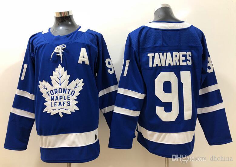 New Maple Leafs Jerseys  91 John Jersey A Patch 2018 New Hockey ... 6eadd119a