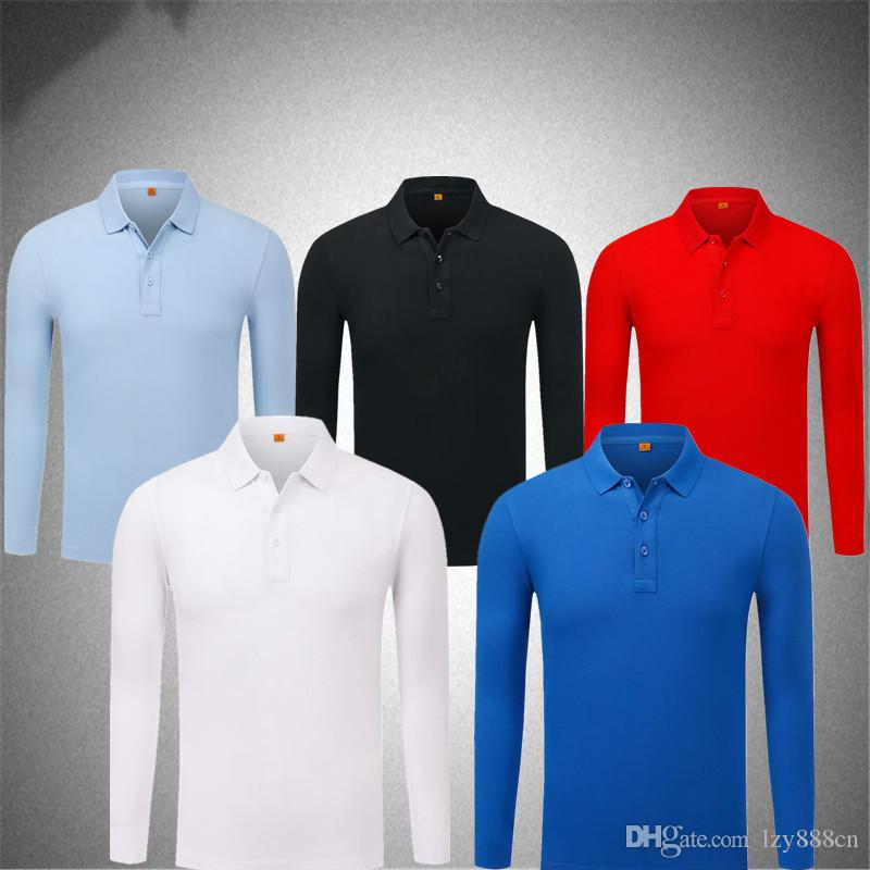 ce9c4c9b PDTXCLS 2018 best-selling men's POLO long sleeves, you can customize the  logo to customize the name and number.