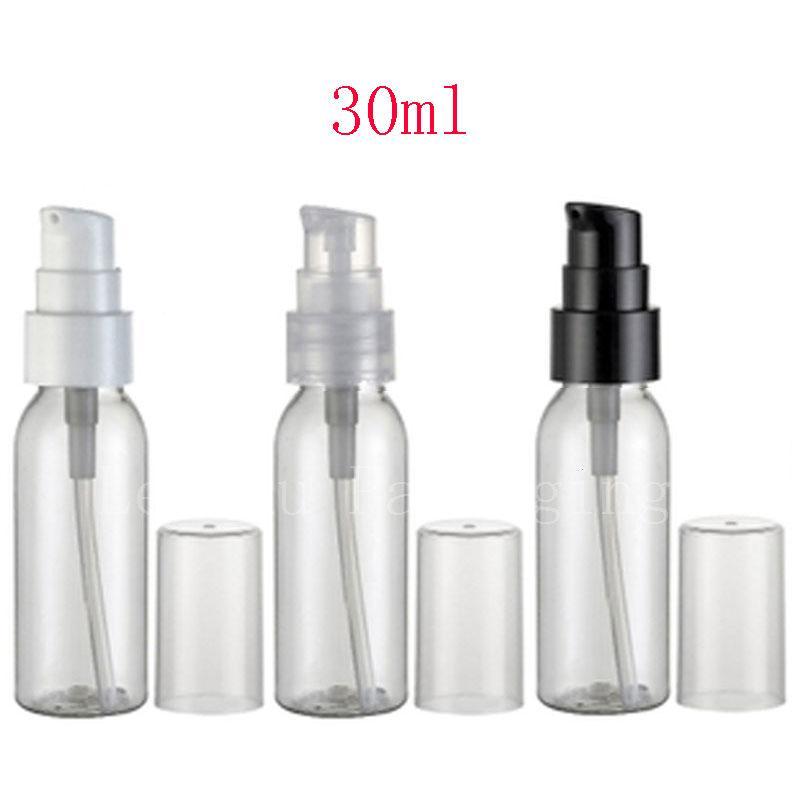 1e9927389572 30ml Transparent Empty Lotion Cream Pump Travel Plastic Bottles Containers,  1oz Clear PET Bottle Treatment Pump 100pc/lot