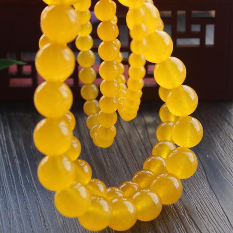 fc8ed7ee19ca Compre Perlas De Cristal Amarillas Perlas Sueltas Redondas De Piedra  Natural 4 6 8 10   12MM Pulsera De Joyería Hecha A Mano Collar DIY A  8.84  Del ...