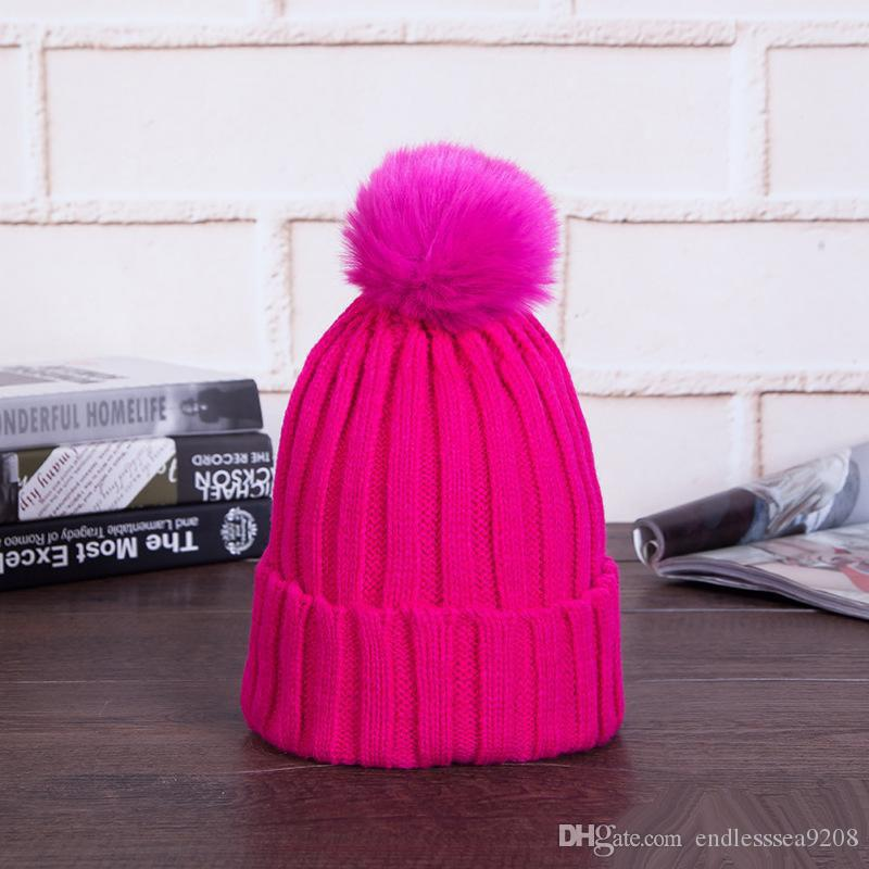 7701052e6 Woman Winter Pom Pom Hat Beanie Girls Beanies Black Pink Winter Hat Solid  Faux Fur Hat And Scarf For Women Skullies Beanies Snapback Hats Cowboy Hats  From ...