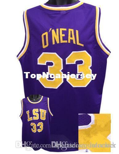 fb405c3c3 2019 Factory Outlet Cheap Custom SHAQUILLE O NEAL LSU Tigers Basketball  Jerseys Purple Yellow Stitched Customized Any Name And Number Jersey From  ...