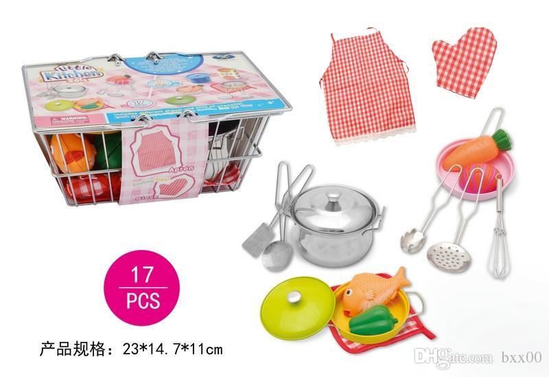 Großhandel Küche Spielzeug Set Für 2017 Edelstahl Kinder Küche Set ...