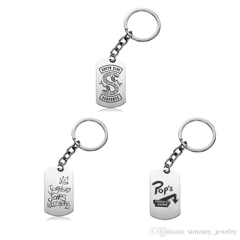 Riverdale Keychains Stainless Steel Hot Movie Printing Keyrings Men Women  Memento Film New Arrival Gift For Child Popular Jewelry Wholesale  Promotional ... bf51f7169