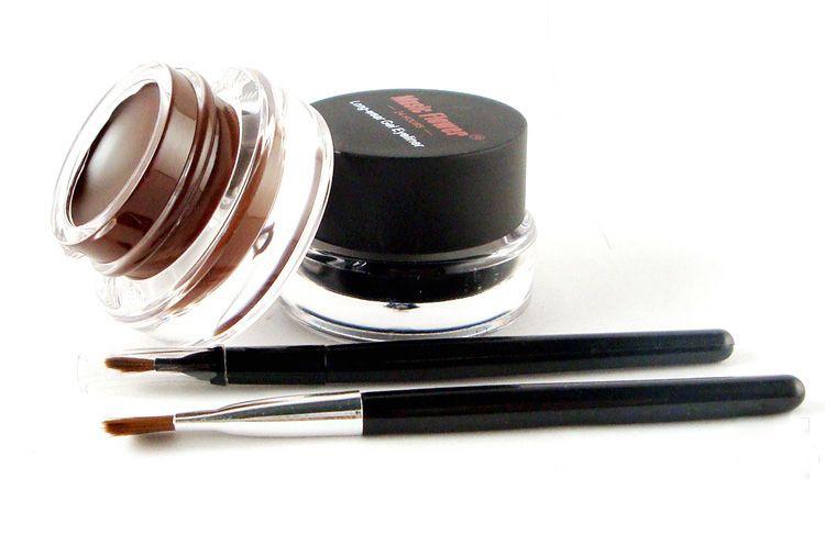 Brown + Black Music Flower Eyestudio Gel Eyeliner Kit Water-proof Smudge-proof Eye Liner 24H Long Lasting