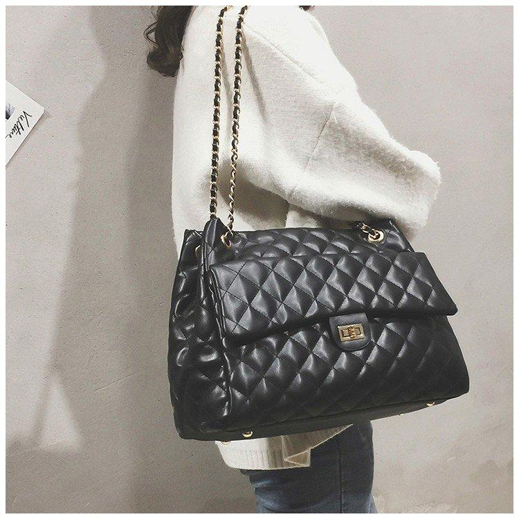 be78076ea187 2019 Fashion Luxury Handbags Women Bags Designer Brand Tote Casual PU  Leather Chain Large Shoulder Crossbody Bags For Women 2018 Sac A Main Purses  For Sale ...