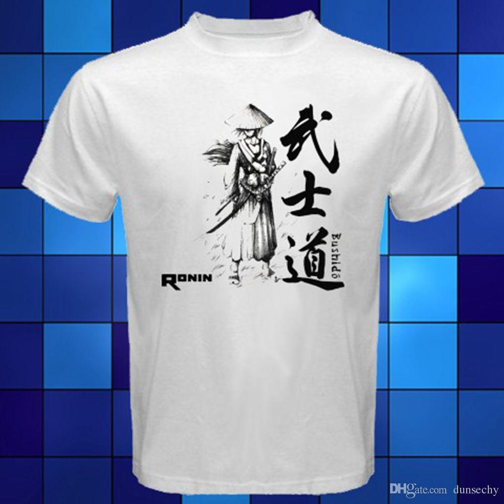 64abf6f90879 New Ronin Bushido Samurai Japan Symbol White T Shirt Size S M L XL 2XL 3XL  Crazy T Shirts For Men Cheap T Shirts For Sale Online From Dunsechy, ...