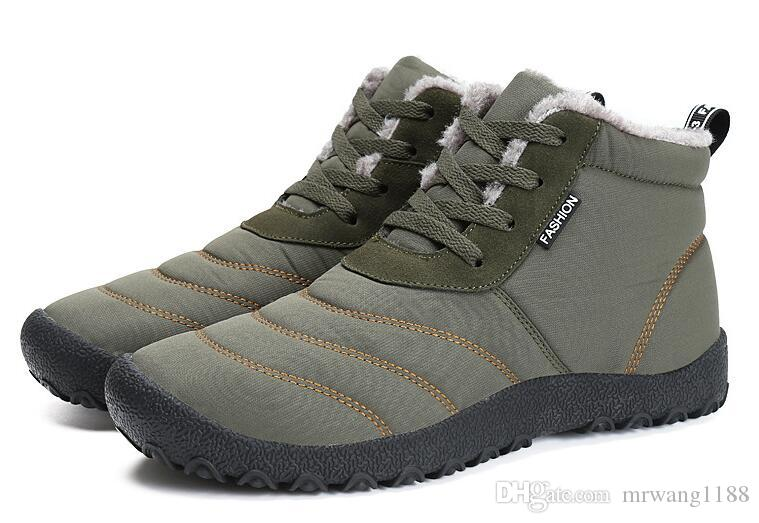 Men Boots Lace-Up Men Fashion Shoes Design Boots Tooling Boots Casual Botas Plus Size Warm Winter Boot Size:EU39-46