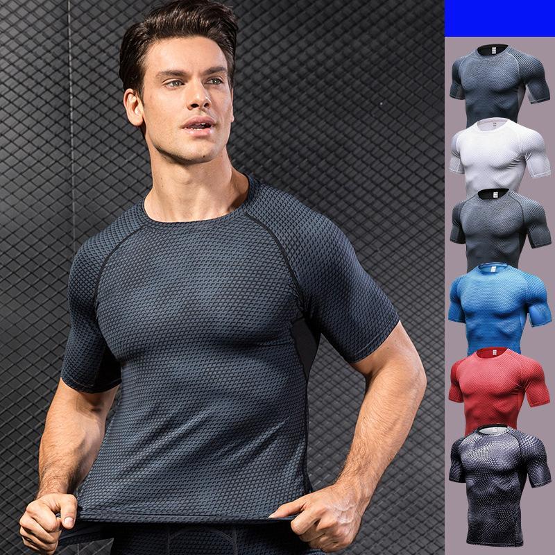 quality design aebc7 d3c80 Allenamento sportivo da uomo T-shirt attillate Fitness da basket Running  Quick Dry Vest Abbigliamento Tees Tops Indumento T-shirt da uomo T-shirt  uomo ...
