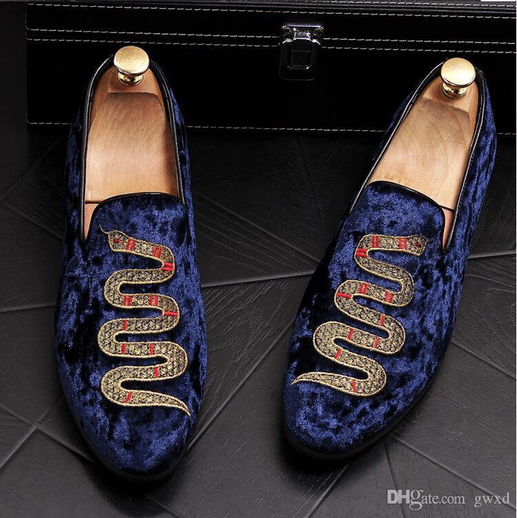 3b1bf6ee806 2018 New Style Men Loafers Top Quality Back Shoes Fashion Embroidery ...