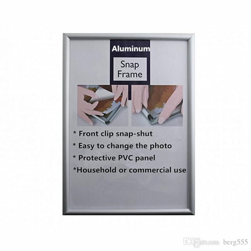 A2 Aluminum Alloy Snap Poster Frame Silver Poster With 25mm Round Or