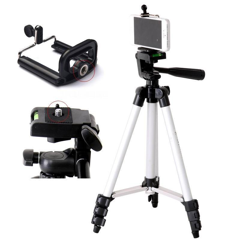 Trípodes Teléfono móvil Trípode Aleación de aluminio Night Fishing Light Telescope Cámara Trípode Fotografía Universal Micro Soporte individual