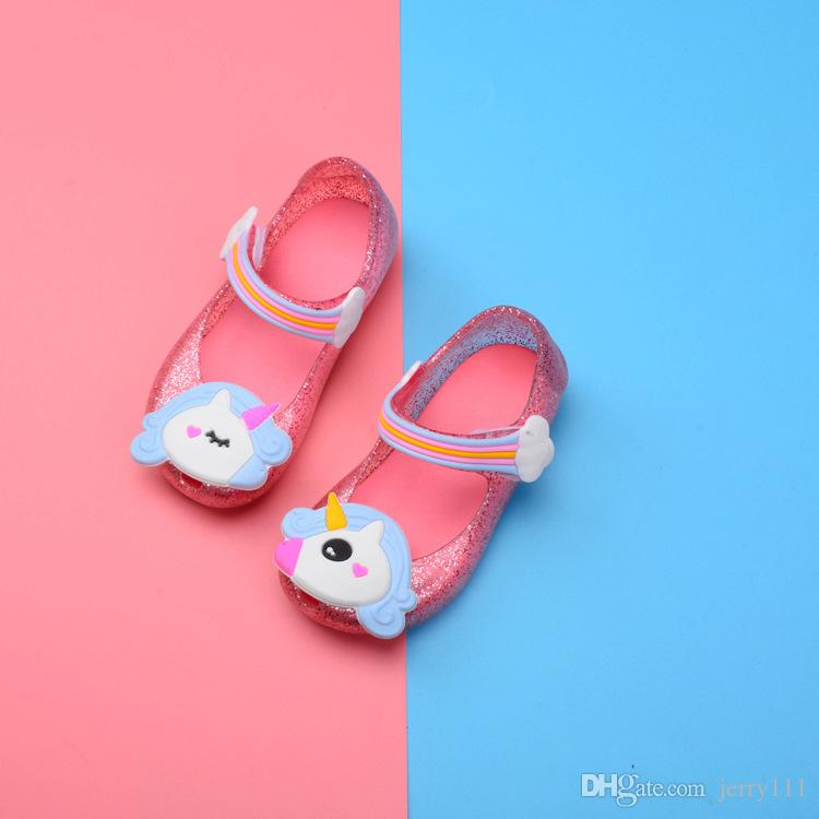 Baby Girl Jelly Shoes Summer New Unicorn Korean Version Of The Lovely Princess  Shoes Girl Sandals LE45 DHL Kids Dress Boots Boys Cheap Boots From  Jerry111 d393f5d97bbc