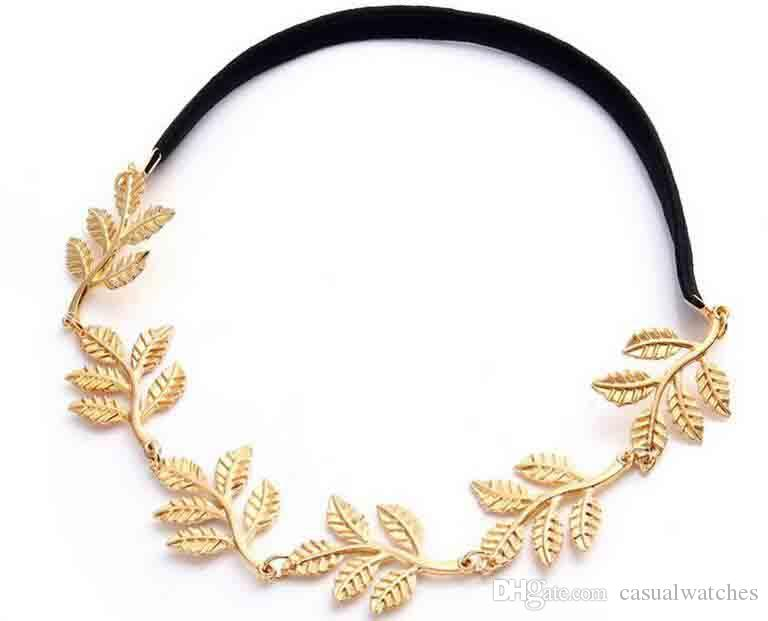 Hot Sale Romantic Olive Branch Leaf Decoration Hairband Headband Gold  Bronze Wholesale From Casualwatches 583474e0f68