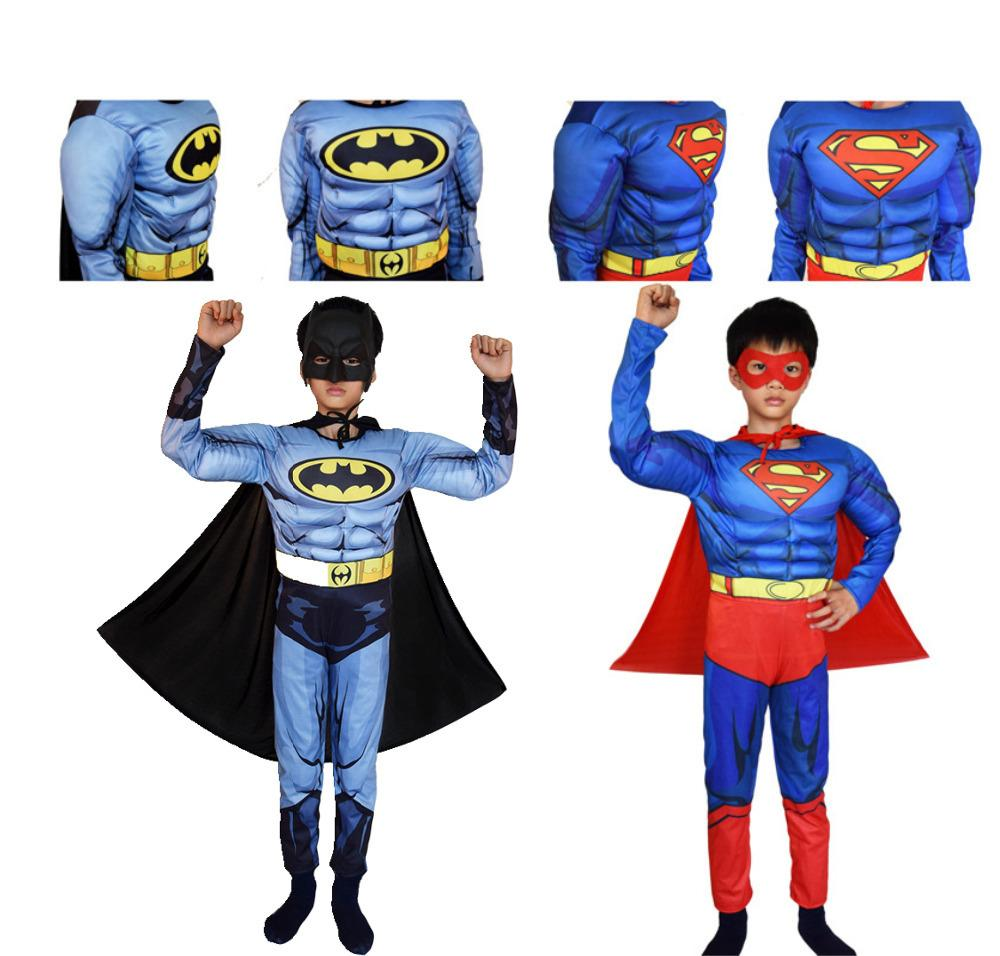 6d4edac69f7709 Acheter Superman Batman Film Classique Muscle Child Costume D halloween  Pour Enfants Justice League Infantiles Super Héros Déguisements Y1891202 De   20.75 ...