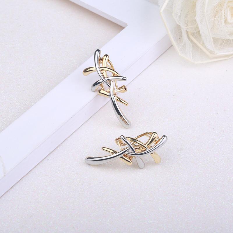 Set di gioielli in argento / oro / colore Romad Orecchini con orecchini a croce Set di gioielli donne Punk Set di gioielli feste femminili