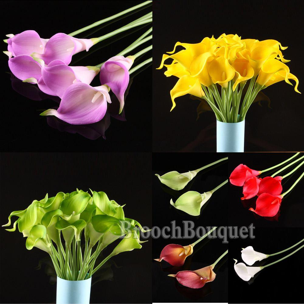 Online cheap 33cm headcalla lily flower bridal models wedding online cheap 33cm headcalla lily flower bridal models wedding bouquets artificial charming flower wedding bridal bouquet home decor by kepi4 dhgate izmirmasajfo