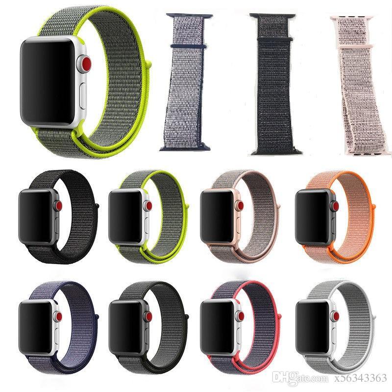Uhren Sport Strap Für Apple Uhr 4 Band 42mm 44mm Iwatch 3 2 1 Bands 38mm 40mm Neue Bunte Weiche Nylon Schleife Armband Handgelenk Gürtel Spezieller Kauf
