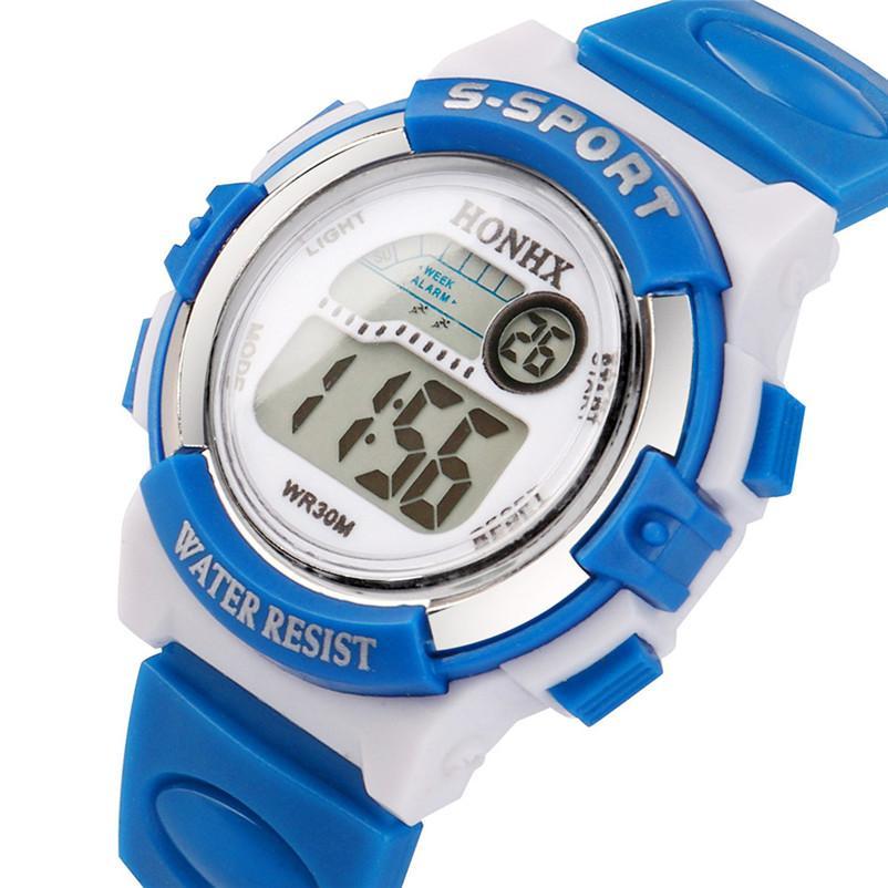 f0fb9a0ee2a Compre Céu Azul Multifunções Esportes Esporte Eletrônico Digital Dos Homens  Relógio Para A Criança Menina Menino Estudantes Das Crianças Relógios De ...