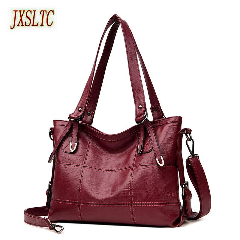 bbea10d4ea JXSLTC Patchwork Women S Shoulder Bags Large Capacity Women Handbags High  Quality PU Leather Women Bags Big Casual Tote Crossbody Purses Ladies Purse  From ...