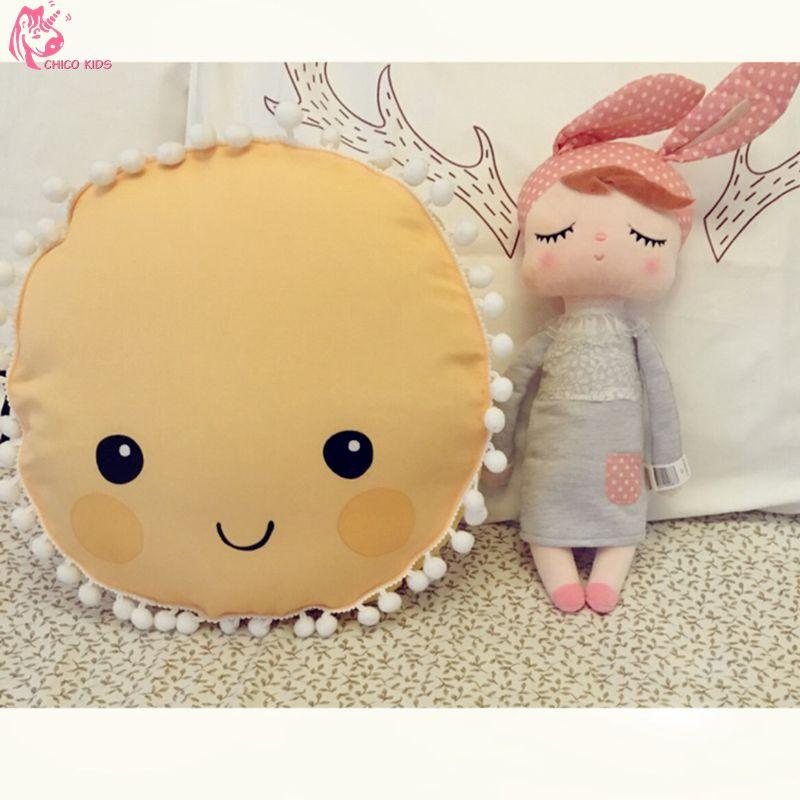 Ins Yellow Round You Are My Sunshine Pillow Decoration Children S