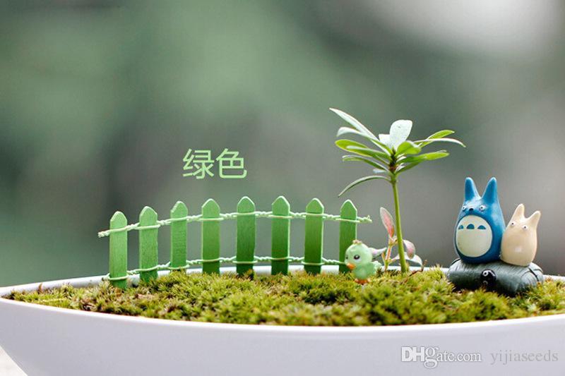 Vente chaude Succulents Moss Micro Paysage Décoration Clôture En Bois Petit Clôture Mousse Mousse Clôture Fournitures De Jardin Couleur Aléatoire