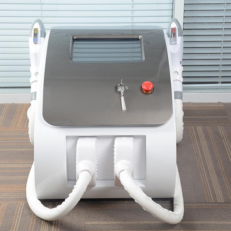 CE taşınabilir 2in1 OPT SHR lazer makinesi HIZLI epilasyon cilt gençleştirme pigmentasyonu vasküler kaldırma ekipmanı