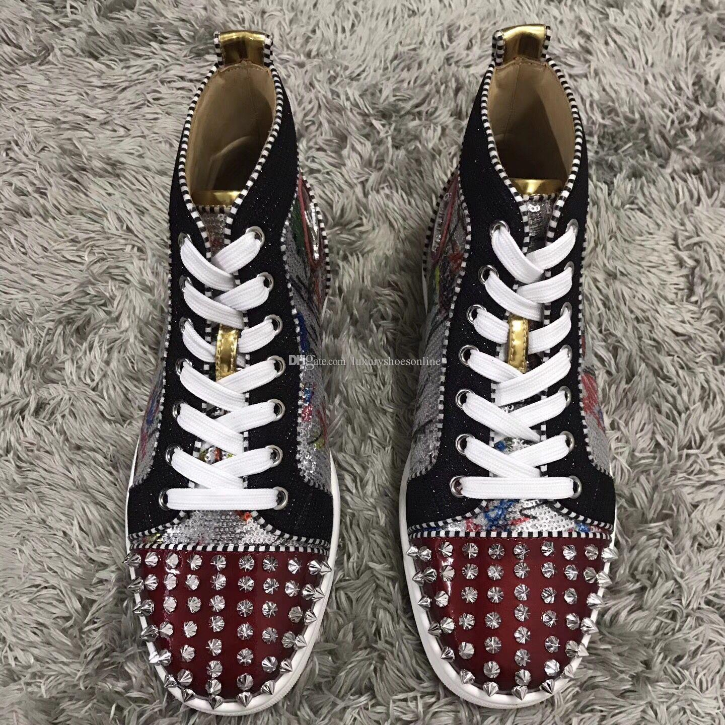 Elegant Bas Rouge Baskets Chaussures No Limit Plots et Strass Graffiti 2018 Nouveaux Baskets Amateurs Baskets Starstudded Casual