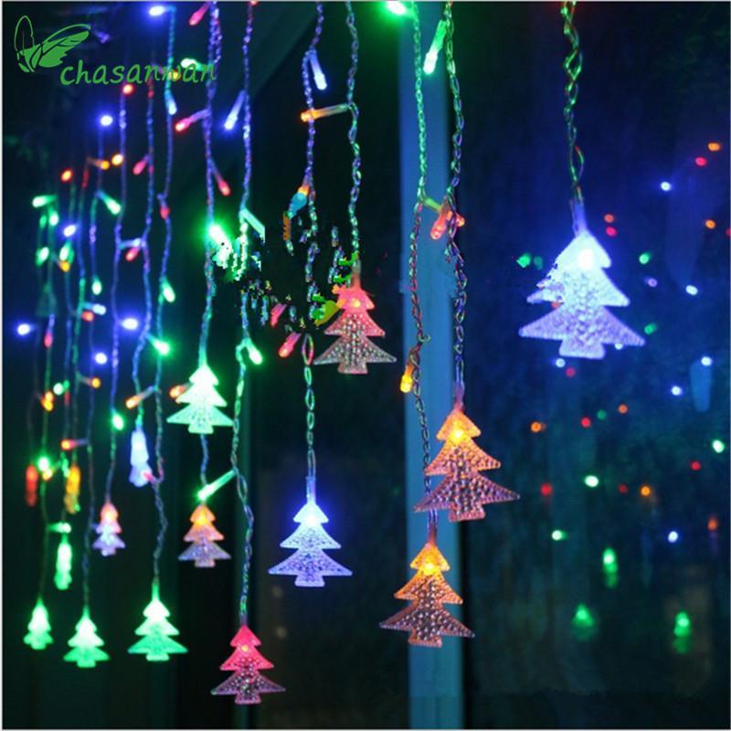 Compre árbol De Navidad Luz Led 3 5 Metros 96 Luces Navidad Año