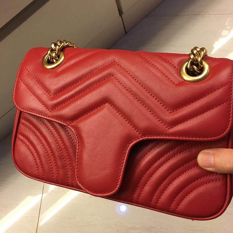 Große Qualität Frauen Marmont Tasche Liebe Herz echte Leder Umhängetasche große Größe Umhängetasche Gold Kette Handtasche