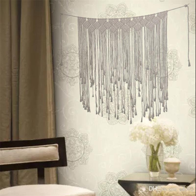 Bohemia Style Pure Hand Weave Tapestry Classic Home Furnishing Wall Hanging Decoration Curtains Pendant Arts Hot Sale 36js Ww