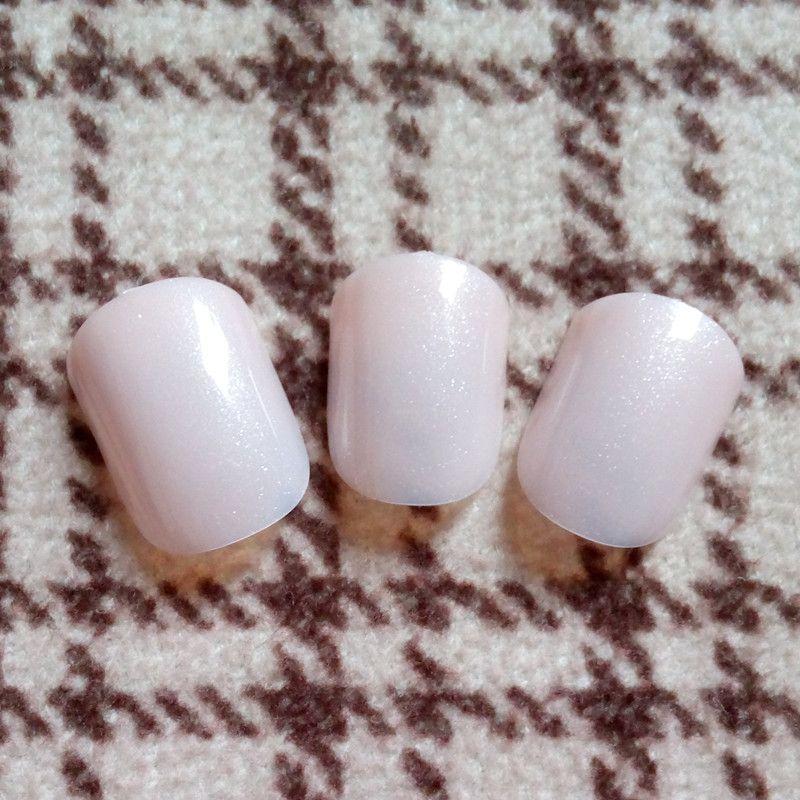 Shine False Nail Tips Glitter Natural Pink Fake Nails Acrylic Nails Salon  Product Press On Nail 24Pcs P41S