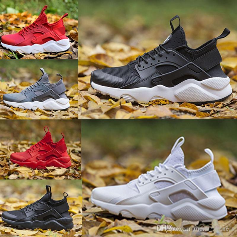 size 40 52ca1 0a9a9 Satın Al Nike Air Huarache Özel Koşu Ayakkabıları Yeni Varış Resmi Üçlü  Beyaz Tüm Kırmızı HUARACHE Erkek Koşu Ayakkabıları Sneakers Kadın Nedensel  Spor ...